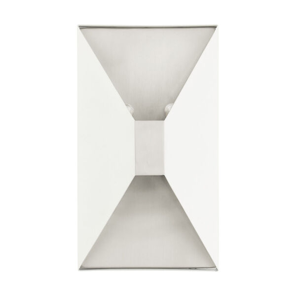 Lexford Textured White Two-Light ADA Wall Sconce, image 2