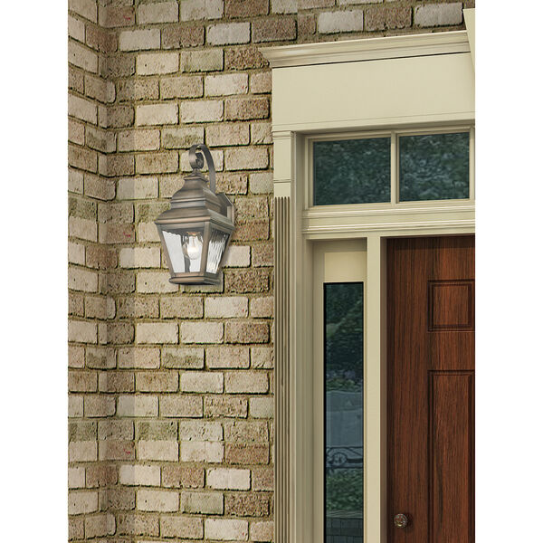 Exeter Vintage Pewter Outdoor Wall Sconce, image 2