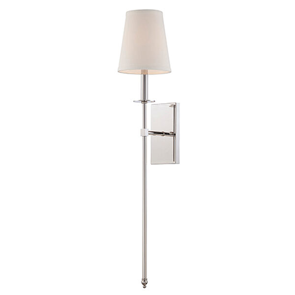 Monroe Polished Nickel One-Light 6.5-Inch Wide Wall Sconce, image 1