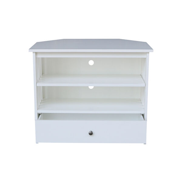 White 35-Inch TV Stand, image 3