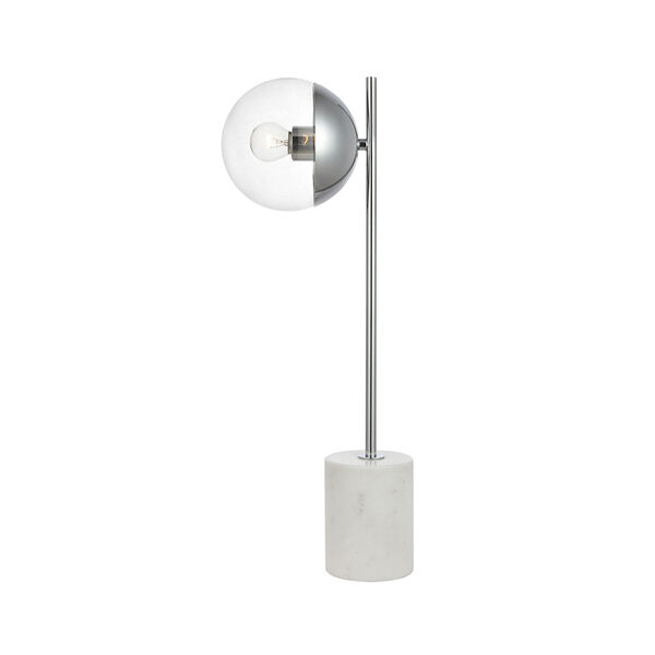 Eclipse Chrome One-Light Table Lamp, image 1
