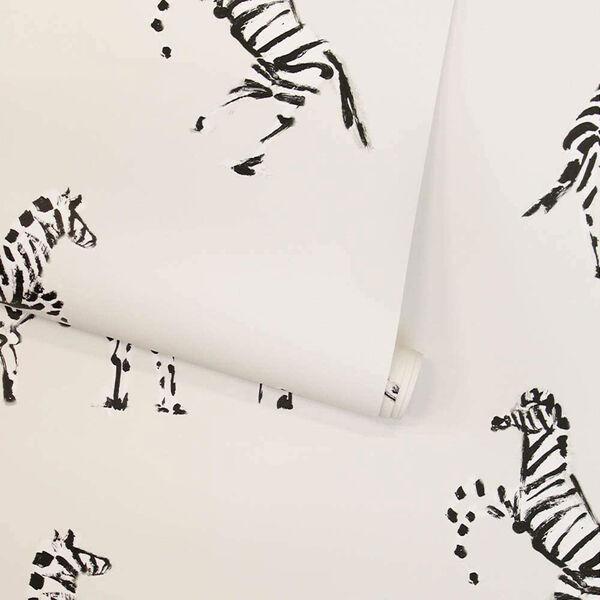 Novogratz White Zebras in Love Waverly Peel and Stick Wallpaper, image 5