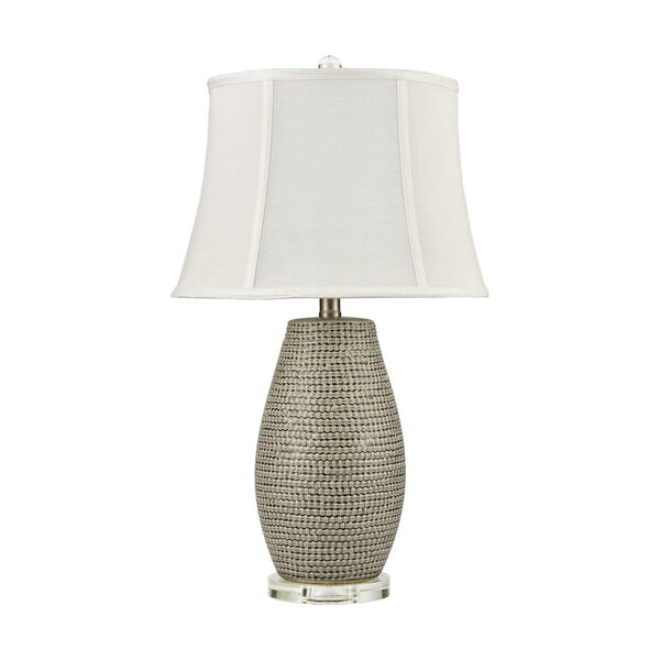 Port Lewick Gray Silver Grey Galze Clear Crystal One-Light Table Lamp, image 2