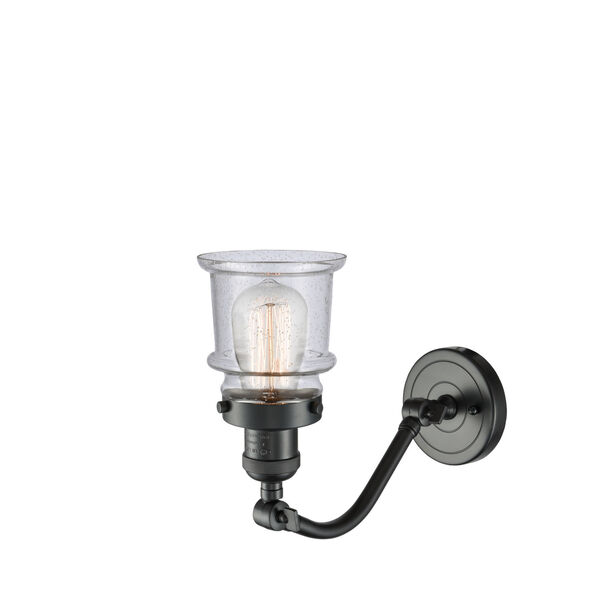 Franklin Restoration Oil Rubbed Bronze 12-Inch LED Wall Sconce with Seedy Canton Shade, image 2