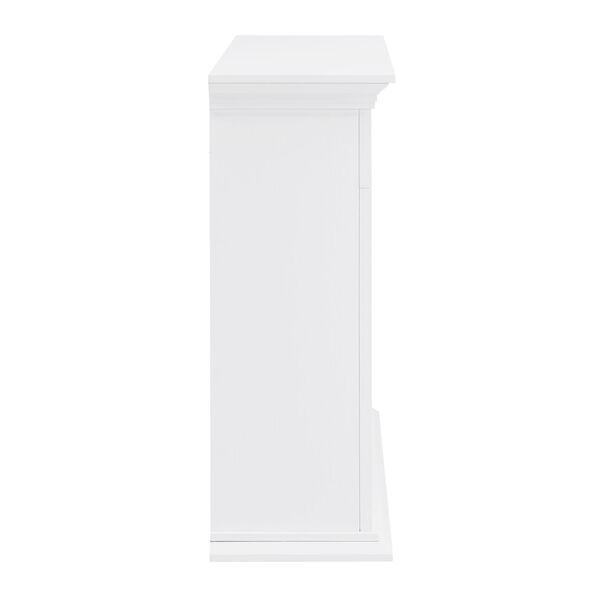 Torlington White Tiled Marble Electric Fireplace Mantel with Alexa Firebox, image 6