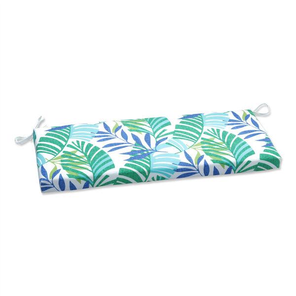 Islamorada Blue and Green Bench Cushion, image 1