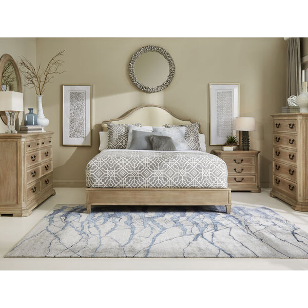Kirby Susanna Weathered Oak Upholstered Queen Bed, image 3