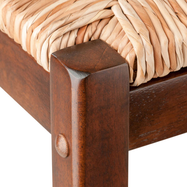 Kaden Walnut Rush Seat Counter Stool, Seat of 2, image 3