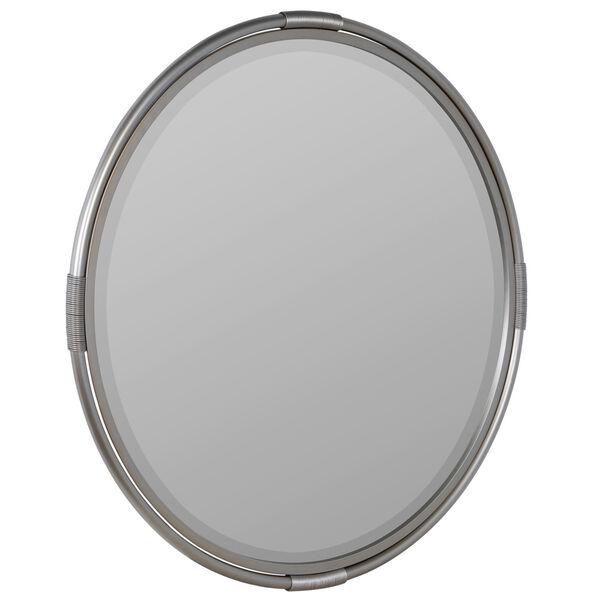 Scarlet Silver Metal 32-Inch x 32-Inch Wall Mirror, image 3
