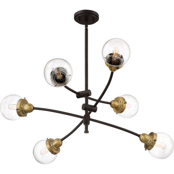 Nicollet Bronze Six-Light Chandelier, image 3