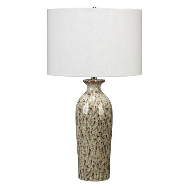 Nomad Brown Reactive Glaze Ceramic One-Light Table Lamp, image 1