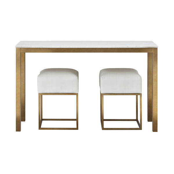 Gold Marble Top Console Table, image 6