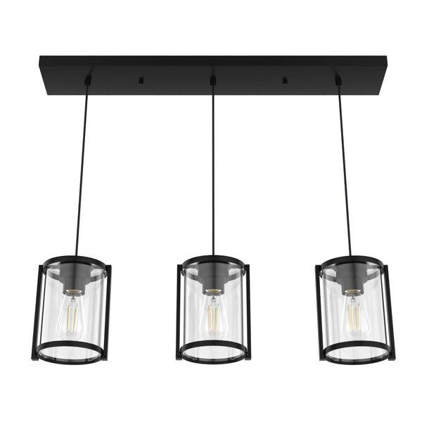 Astwood Matte Black Three-Light Pendant, image 5