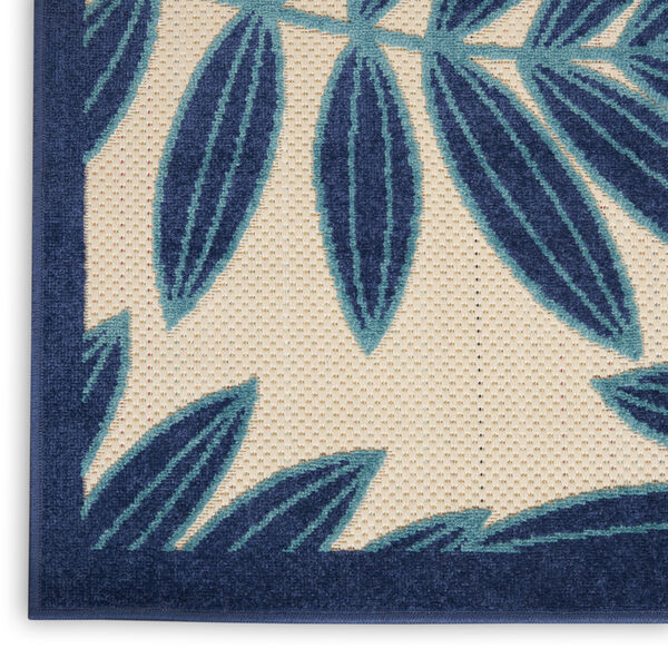 Aloha Navy Blue and White 6 Ft. x 9 Ft. Rectangle Indoor/Outdoor Area Rug, image 5
