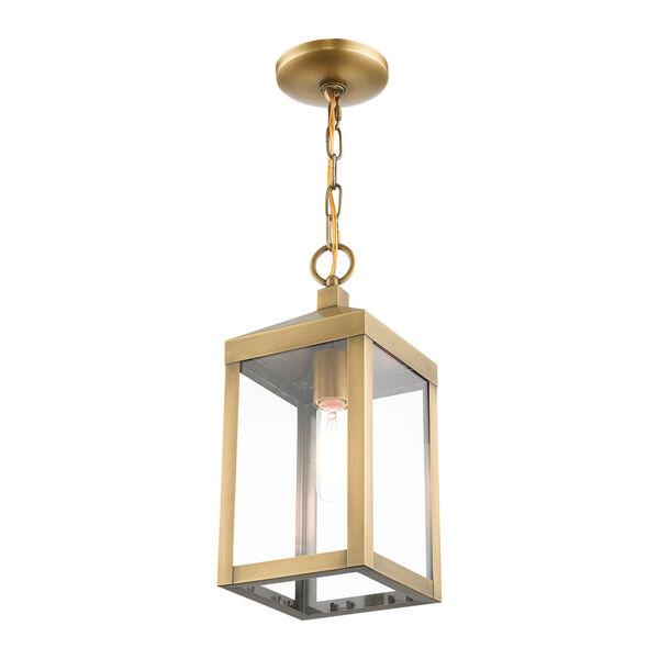 Nyack Antique Brass One-Light Outdoor Pendant Lantern, image 5