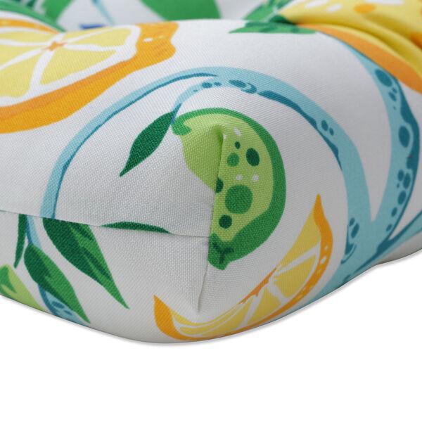 Lemon Yellow Blue Green Loveseat Cushion, image 2