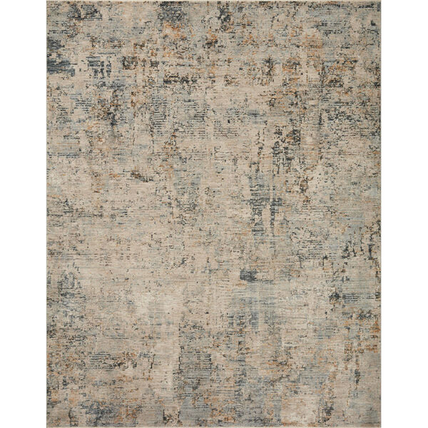 Axel Beige and Sky Area Rug, image 1