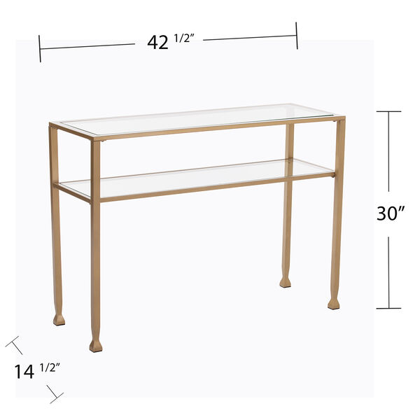 Jaymes Soft Gold 43-Inch Console Table, image 6