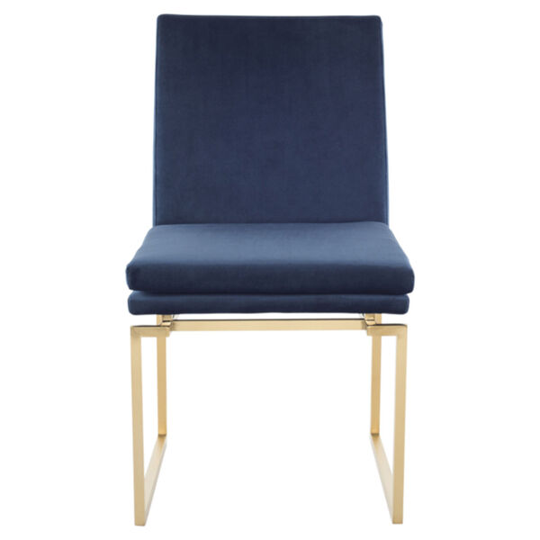 Savine Peacock and Gold Dining Chair, image 2