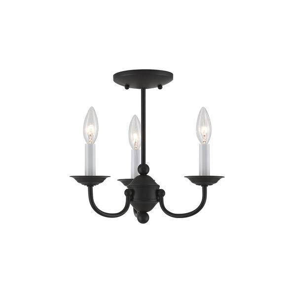 Home Basics Black Three-Light Mini Chandelier, image 5