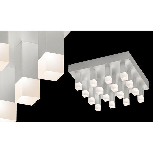 Connetix 16 Light - Bright Satin Aluminum with White Etched Acrylic  Flush Mounted Light, image 1