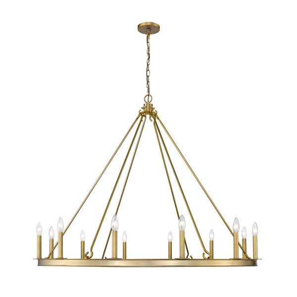 Barclay Olde Brass 48-Inch 12-Light Chandelier, image 4