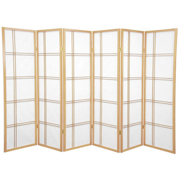 Five Ft. Tall Double Cross Shoji Screen, Width - 102 Inches, image 1