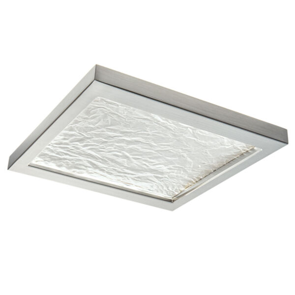 For-Square Brushed Nickel 12-Inch LED Flush Mount, image 1