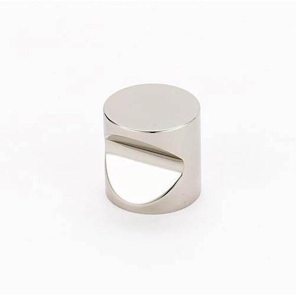 Contemporary Polished Nickel 1-Inch Knob, image 1
