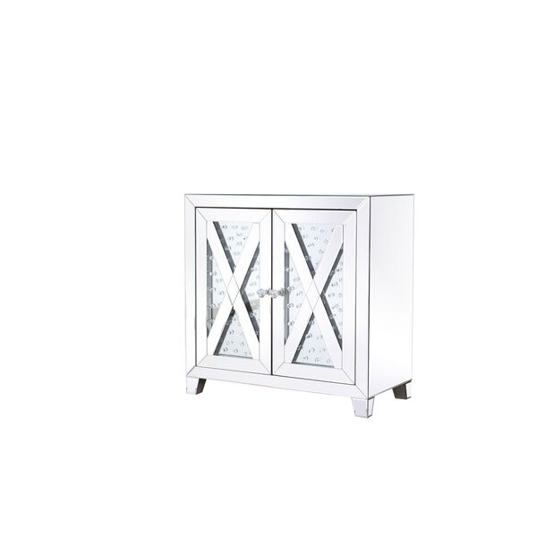 Modern Clear Crystal 28-Inch Cabinet, image 5