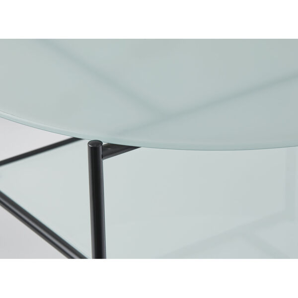 Stephen Black and White Two-Tiered Coffee Table, image 5