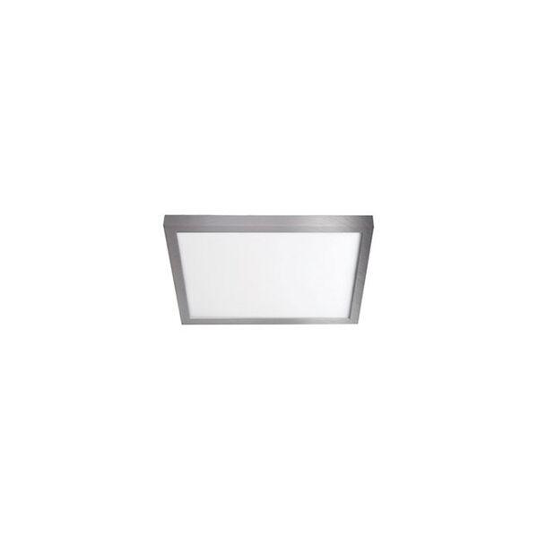 Brushed Nickel 7-Inch 3000K LED ADA Square Flush Mount, image 1