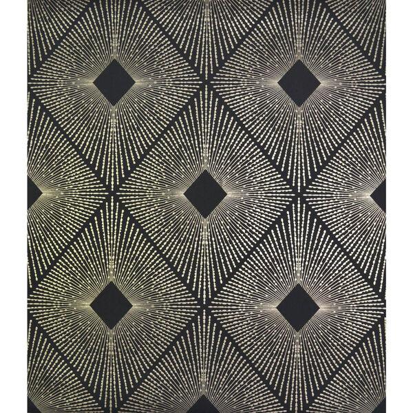 Antonina Vella Modern Metals Harlowe Black and Gold Wallpaper, image 1