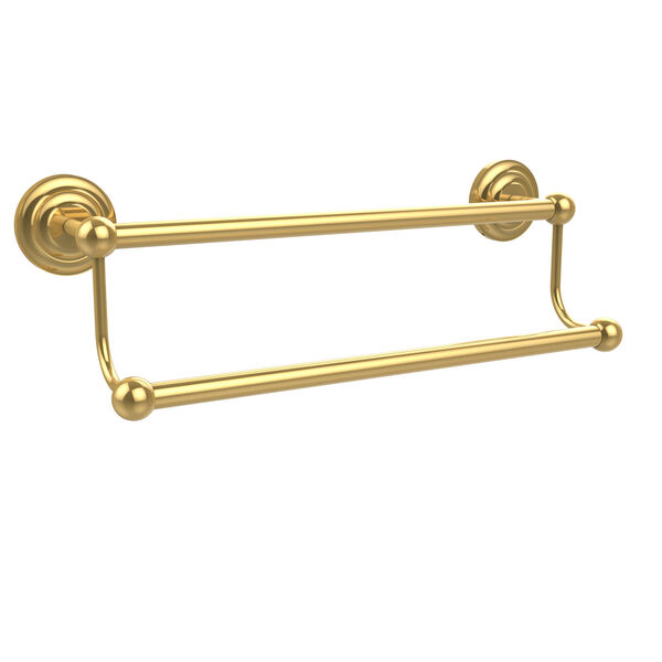 Polished Brass 30-Inch Double Towel Bar, image 1