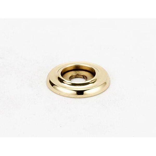 Polished Brass 3/4-Inch Backplate, image 1