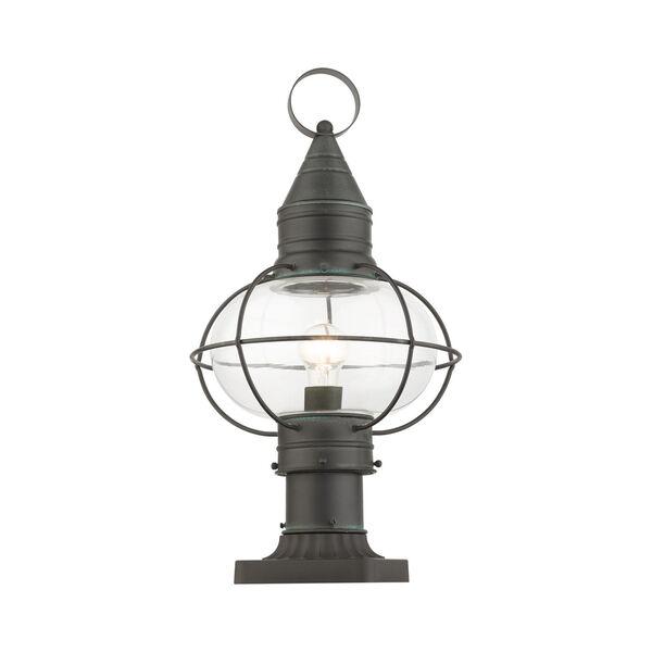 Newburyport Charcoal 11-Inch One-Light Outdoor Post Lantern, image 3