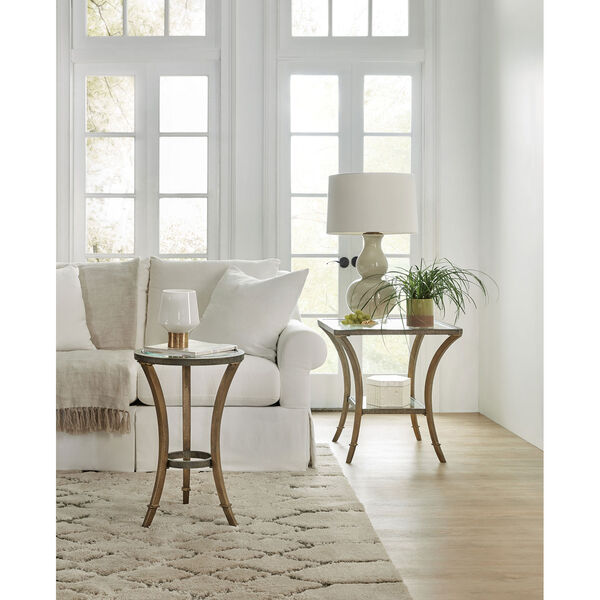 Gold Round Accent Martini Table, image 2