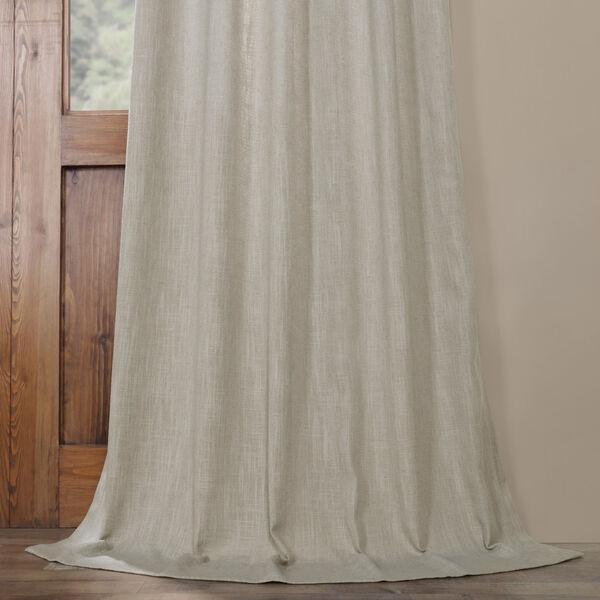 Ash Grey Heavy Faux Linen 96 x 50 In. Curtain Single Panel, image 5