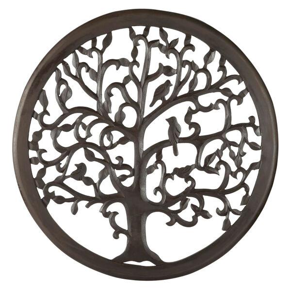 24 In. Dark Brown Solaris Ten Tree of Life Wall Art, image 1