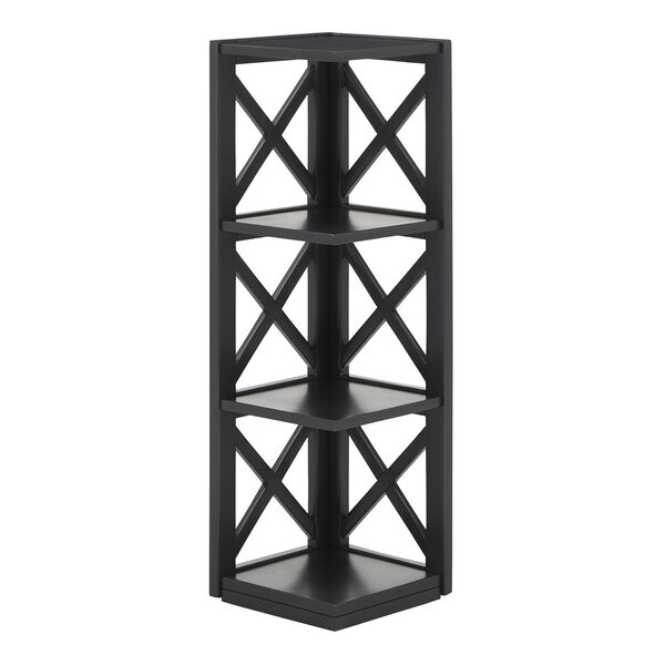 Tanya Black X-Frame Three-Shelve Bookcase, image 2