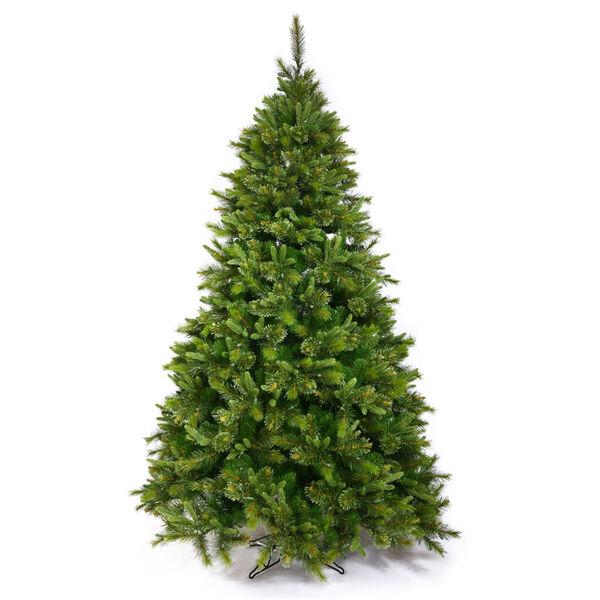 Green 7.5 Foot Cashmere Slim Tree Christmas Tree, image 1