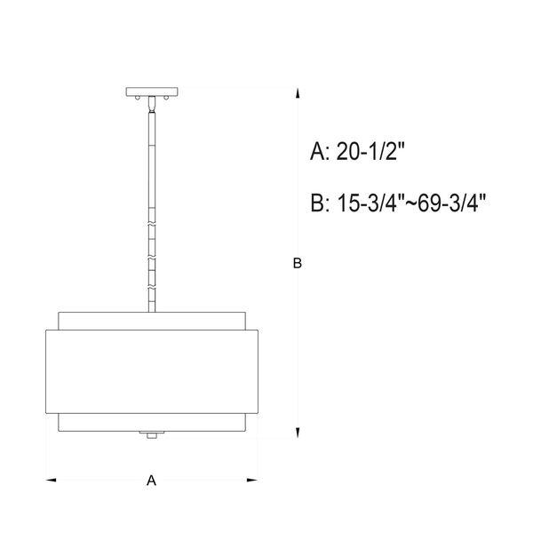 Burnaby Matte Brass Four-Light Pendant, image 5