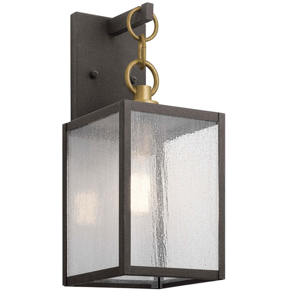 Lahden Weathered Zinc 12-Inch One-Light Outdoor Wall Sconce, image 1