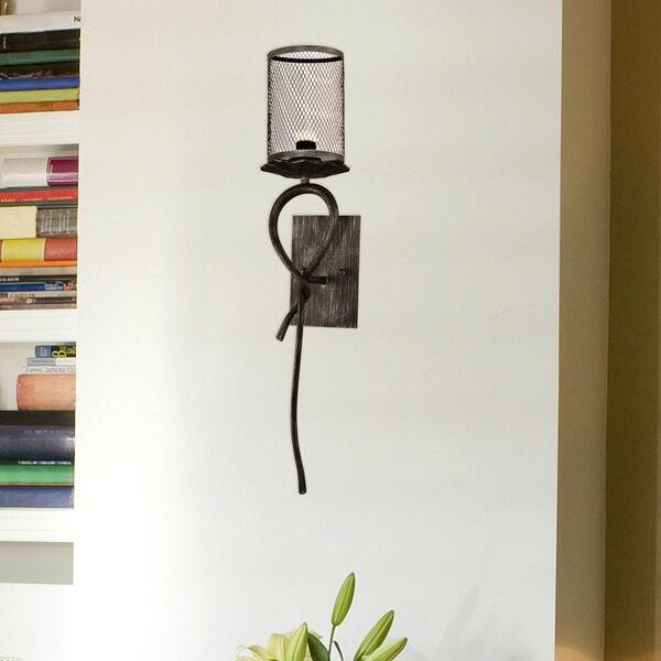 Springdale Silver and Black Desi One-Light Mesh LED Wall Sconce, image 2