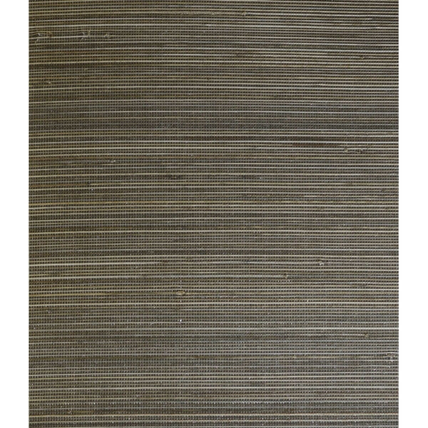 Lillian August Luxe Retreat Charcoal and Sandstone Abaca Grasscloth Unpasted Wallpaper, image 1
