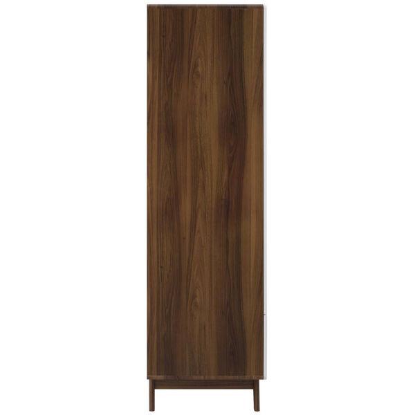 Uptown Walnut White Wood Wardrobe Cabinet, image 2