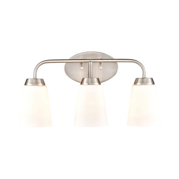 Winslow Silver Brushed Nickel Three-Light Bath Vanity, image 3