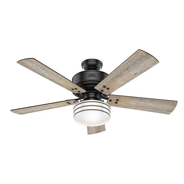 Cedar Key Matte Black 52-Inch One-Light LED Adjustable Ceiling Fan, image 1