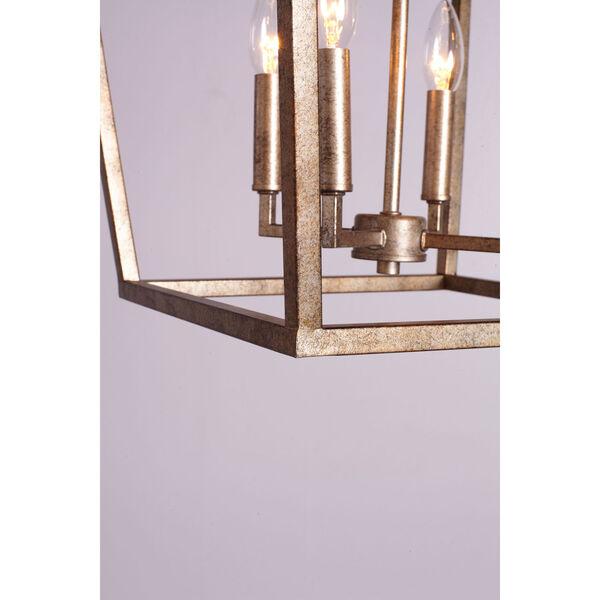 Vintage Gold 16-Inch Four-Light Pendant, image 2
