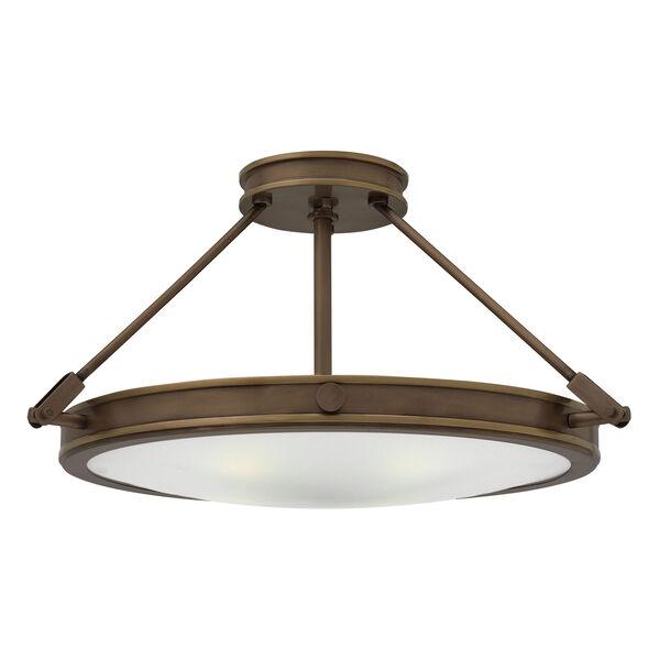 Collier Light Oiled Bronze 22-Inch LED Semi-Flush Mount, image 1
